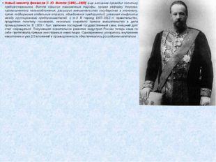 Новый министр финансов С. Ю. Витте (1892—1903) еще активнее проводил политику