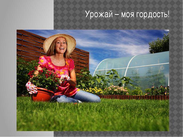 Урожай – моя гордость!