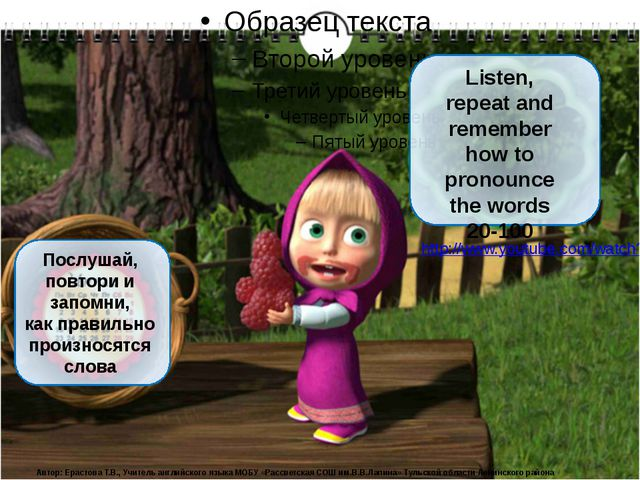 Послушай, повтори и запомни, как правильно произносятся слова Listen, repeat...