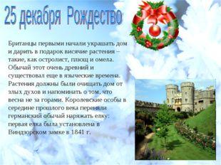 Британцы первыми начали украшать дом и дарить в подарок висячие растения – та