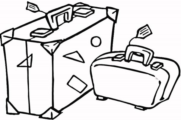 Suitcase To Travel - Free Coloring Pages #6636 to print coloringpics Free Coloring Pages to print
