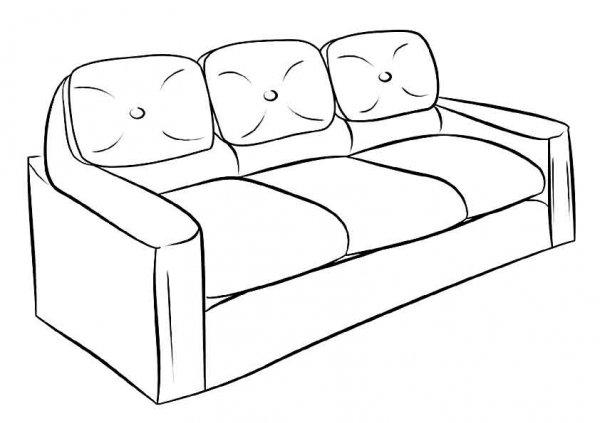 Раскраски мебель. . Картинки для раскрашивания с мебелью