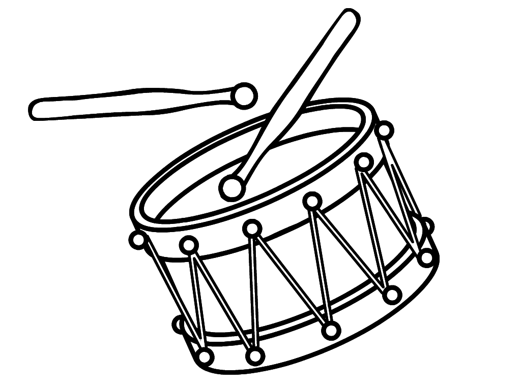 Раскраска барабаны
