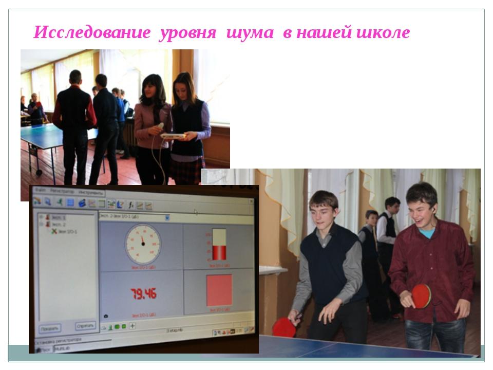 Исследование уровня шума в нашей школе на перемене