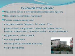 Основной этап работы: Определить объем и источники финансирования проекта При