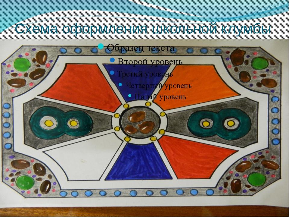 Схема оформления школьной клумбы