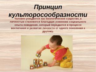 Основные требования культоросообразности: –использование в воспитательной де