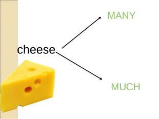 cheese MUCH MANY