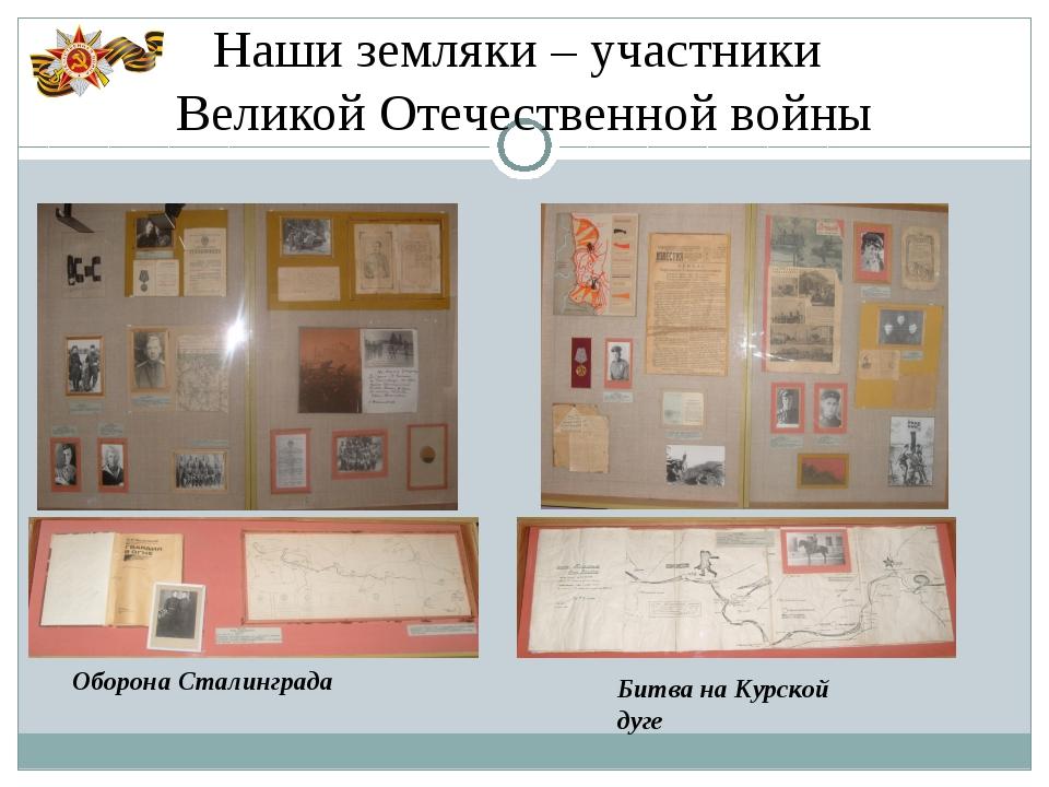 Наши земляки – участники Великой Отечественной войны Оборона Сталинграда Битв...