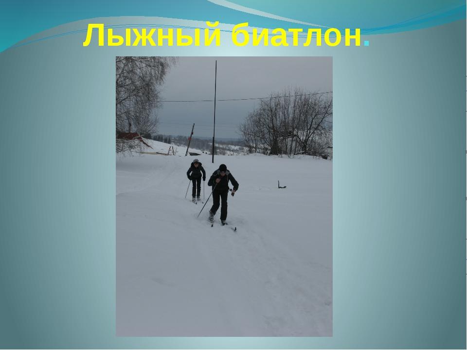 Лыжный биатлон.