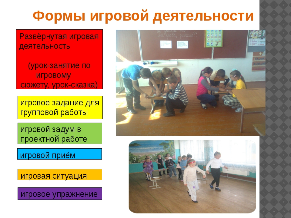 Формы игровой деятельности Развёрнутая игровая деятельность (урок-занятие по...