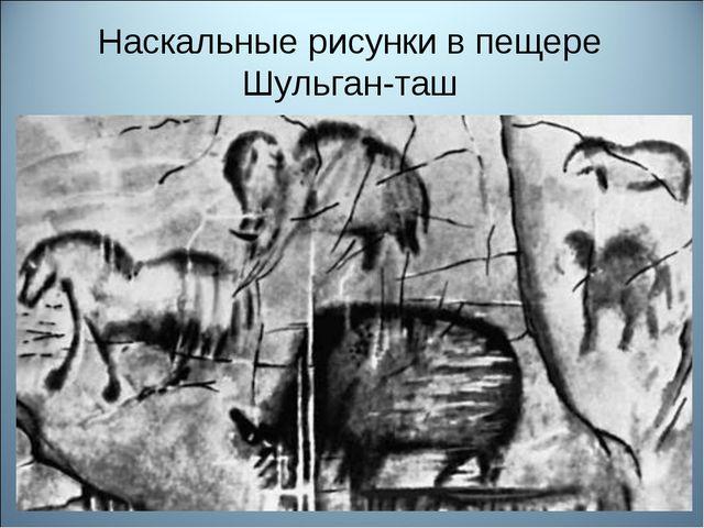 Наскальные рисунки в пещере Шульган-таш