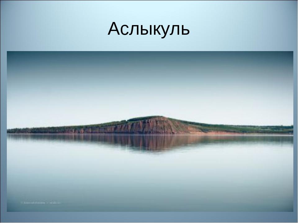 Аслыкуль