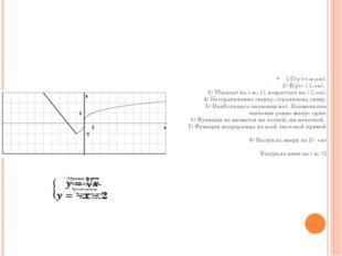 1)D(y)=(-∞;+∞). 2) Е(у)= (-1;+∞). 3) Убывает на (-∞;-1), возрастает на (-1;+∞