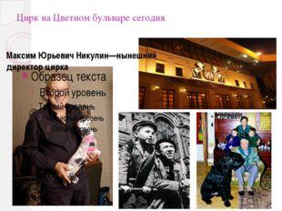 Цирк на Цветном бульваре сегодня Максим Юрьевич Никулин—нынешний директор цирка