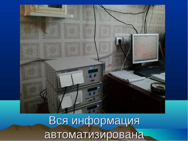Вся информация автоматизирована