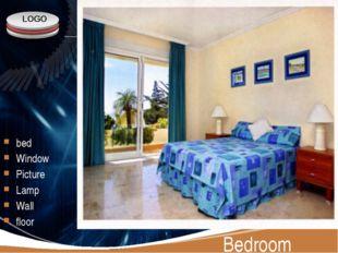 Bedroom bed Window Picture Lamp Wall floor LOGO