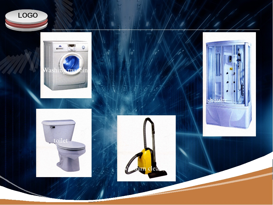 www.themegallery.com Washing machine toilet Vacuum cleaner shower LOGO