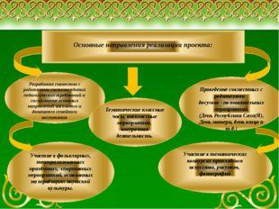 Основные направления реализации проекта: Разработка совместно с родителями с