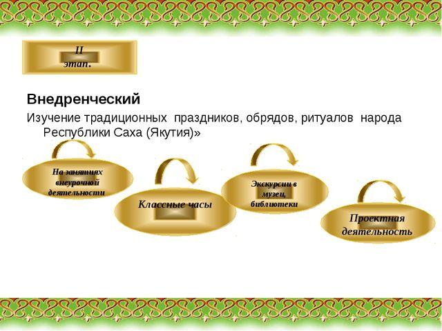 Внедренческий Изучение традиционных праздников, обрядов, ритуалов народа Рес...