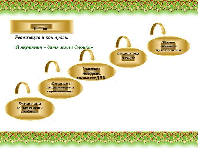 III Этап «Я якутянин – дитя земли Олонхо» Классные часы «Культура речи и пов...