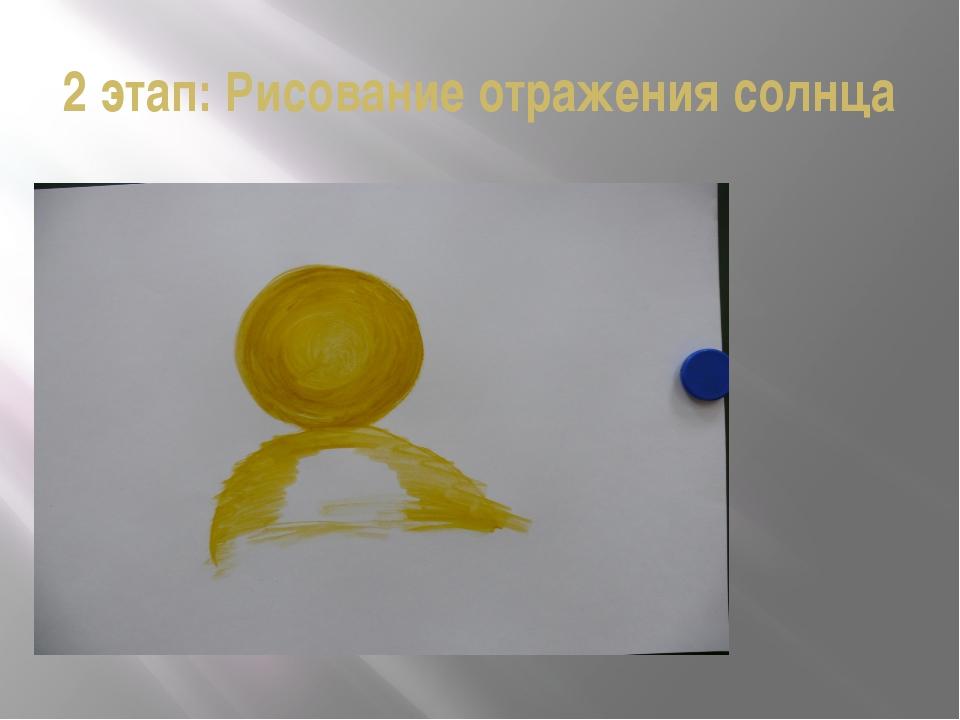 2 этап: Рисование отражения солнца