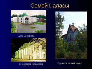 Семей қаласы Абай мұражайы Невзоровтар мұражайы Курчатов -кешегі тарих