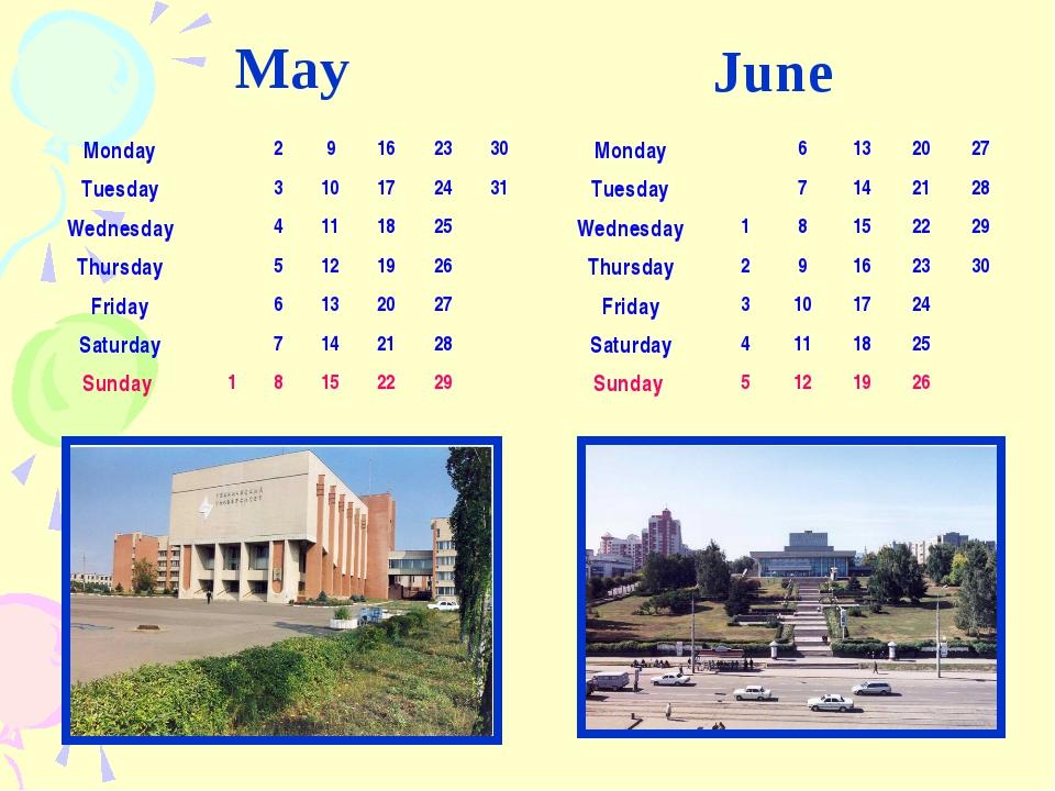 May June