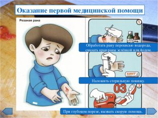 Оказание первой медицинской помощи Зафиксировать руку в неподвижном положении