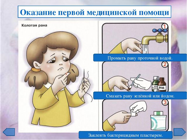 Резаная рана Восстановите последовательность оказания первой помощи 1 2 3 1 2...