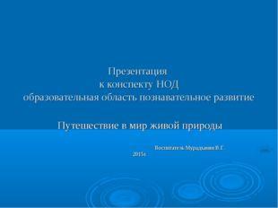Презентация к конспекту НОД образовательная область познавательное развитие П
