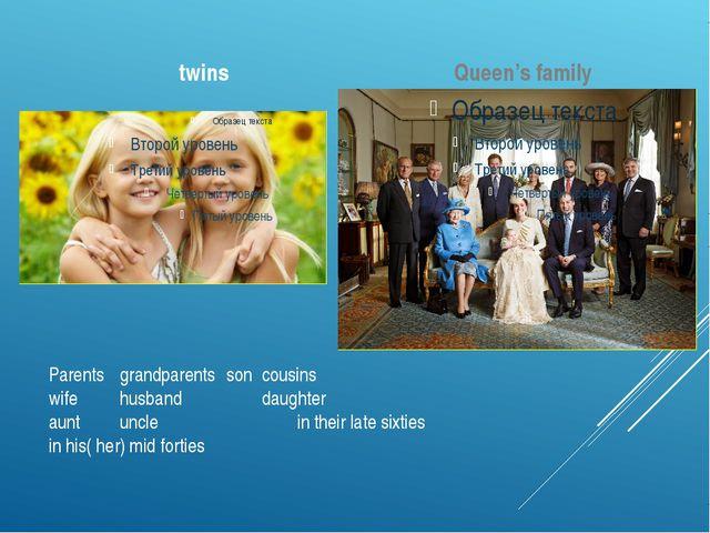 Parentsgrandparentssoncousins wifehusbanddaughter auntunclein t...