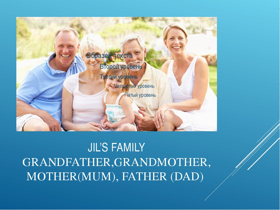 JIL'S FAMILY GRANDFATHER,GRANDMOTHER,MOTHER(MUM), FATHER (DAD)