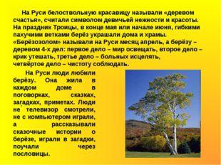 На Руси белоствольную красавицу называли «деревом счастья», считали символом