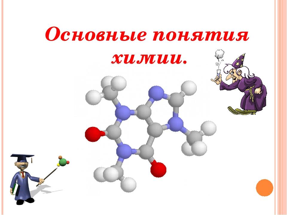 Основные понятия химии.