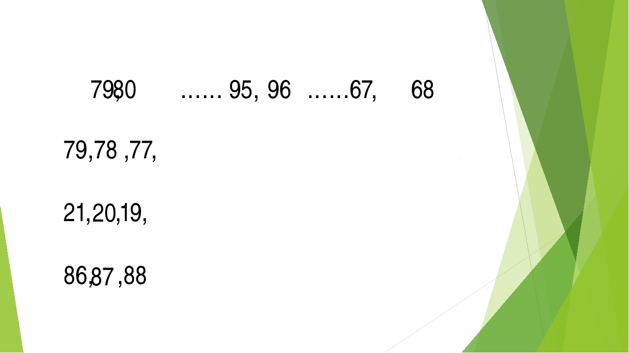 79, …… 95, ……67, 80 96 68 79, ,77, 21, ,19, 86, ,88 78 20 87