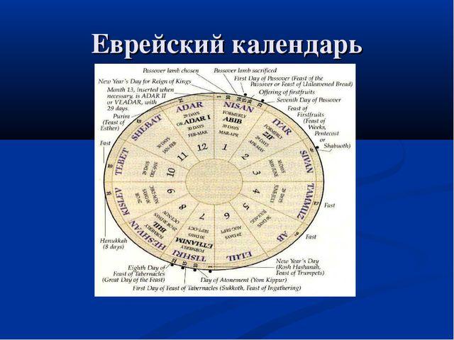 Еврейский календарь