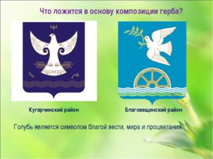 Что ложится в основу композиции герба? Кугарчинский район Благовещенский райо