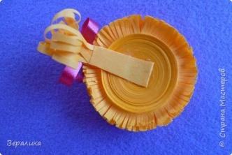 Мастер-класс Поделка изделие Новый год Квиллинг Обезьянка-магнит Бумажные полосы фото 18