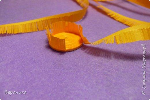 Мастер-класс Поделка изделие Новый год Квиллинг Обезьянка-магнит Бумажные полосы фото 8