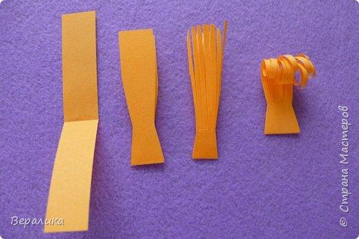 Мастер-класс Поделка изделие Новый год Квиллинг Обезьянка-магнит Бумажные полосы фото 16