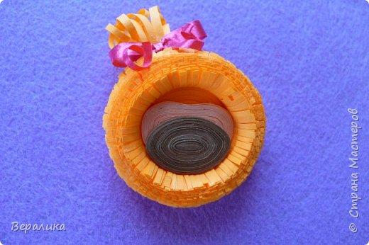 Мастер-класс Поделка изделие Новый год Квиллинг Обезьянка-магнит Бумажные полосы фото 19