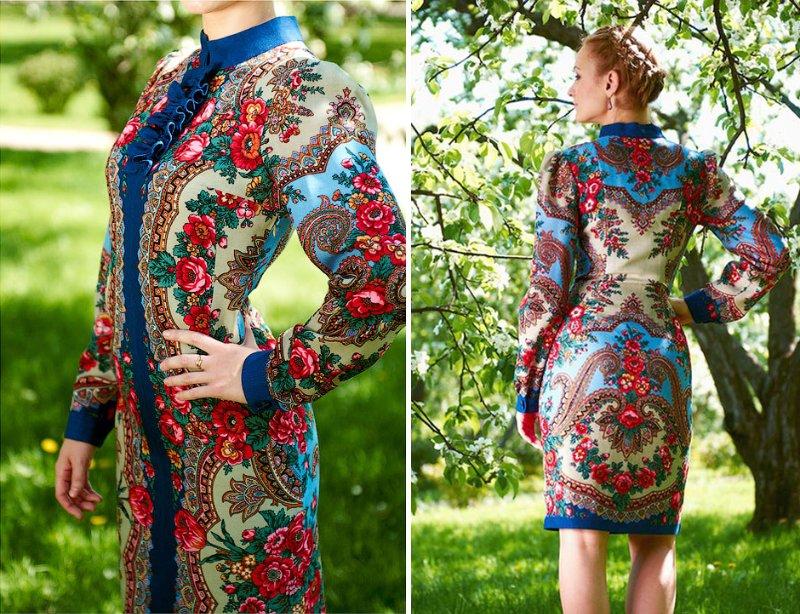 Павлопосадские платки в современном гардеробе!