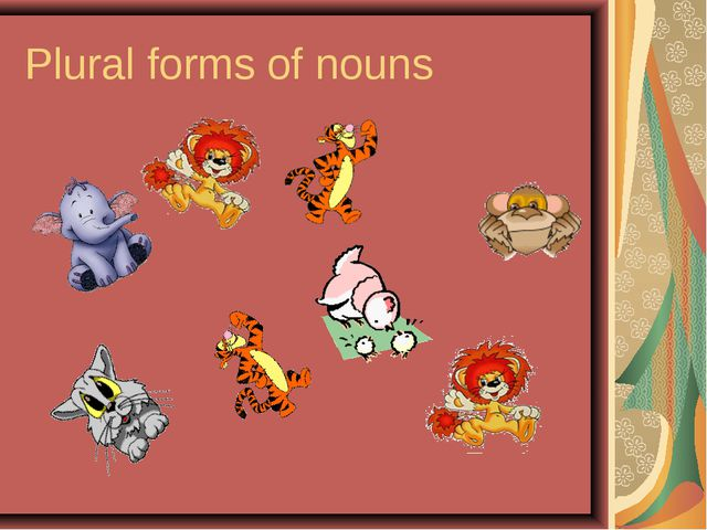 Plural forms of nouns