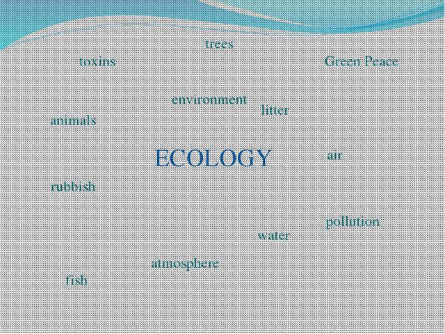 ECOLOGY environment litter rubbish atmosphere water air pollution Green Peace...