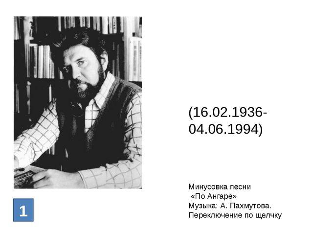 Генна́дий Па́влович Михасе́нко (16.02.1936- 04.06.1994) 1 Минусовка песни «По...