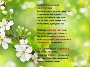 Алексей Жемчужников С ГОР ПОТОКИ Весна, весна — по всем приметам, Куда теперь