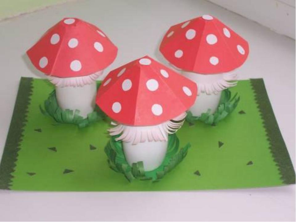 Поделка грибы своими руками для детского сада 59