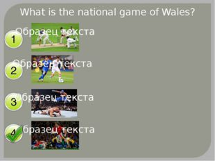 What is the national game of Wales?