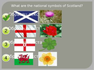 What are the national symbols of Scotland?